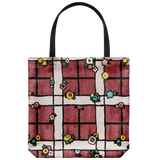 Tote bag with an old English garden fence pattern - 3 color options