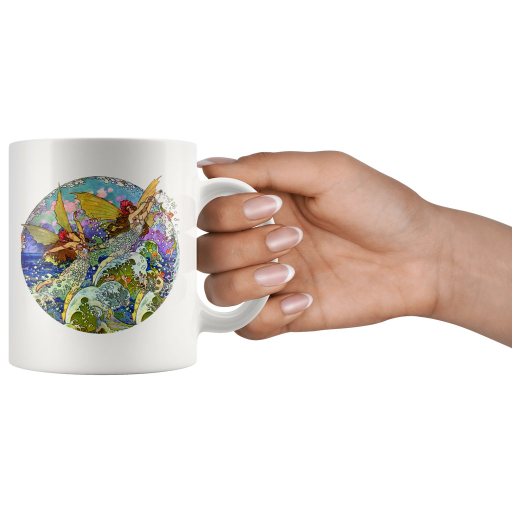 Vintage fairy mugs: 3 different beautiful, fanciful designs based on vintage artwork from the 1920s