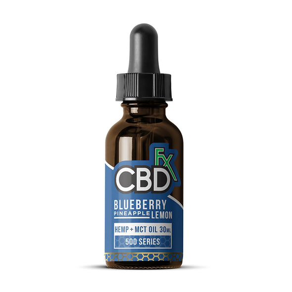 CBDfx Hemp + MCT Oil Tincture 30mL - Blueberry Pineapple Lemon - 500mg