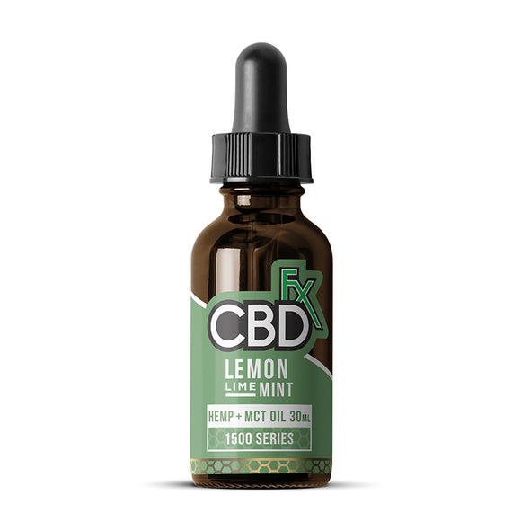 CBDfx Hemp + MCT Oil Tincture 30mL - Lemon Lime Mint - 1500mg
