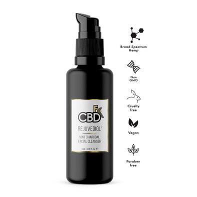 CBDfx Rejuvediol Charcoal Face Cleanser - 100mL - 50mg