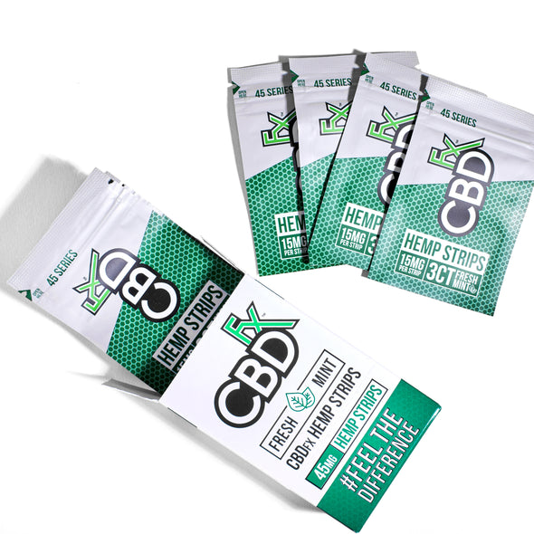 CBDfx Strips 3ct Pouch - Fresh Mint 15mg per Strip