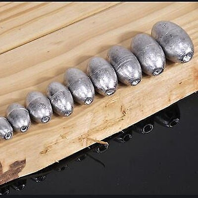 50pcs Olive Shape Sinkers Pure Lead Making Fishing Sinker Sports & Outdoors Supplies FH99