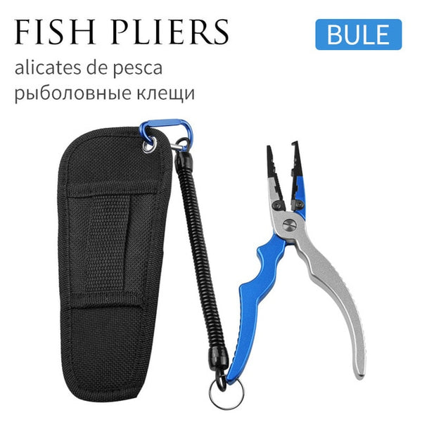 LINNHUE Aluminum Alloy Fishing Grip Pliers Stainless Steel Fish Gripper Hook Recover Line Cutter High Quality Fish Grip Tool Lip