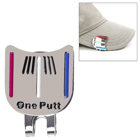 Alloy Golf Alignment Aiming Tool Ball Marker Magnetic Hat Clip