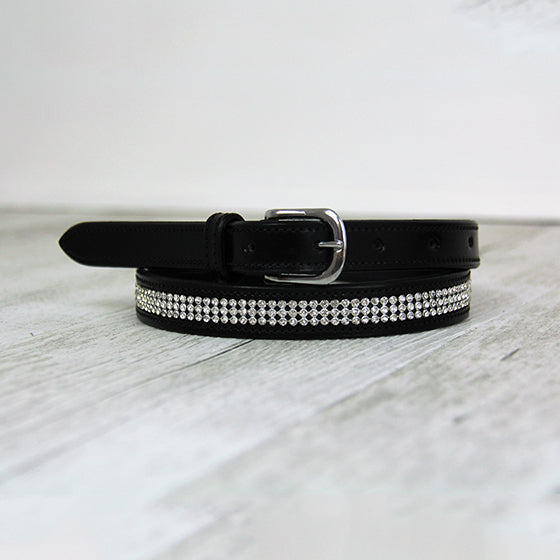 Leather Bling Belts