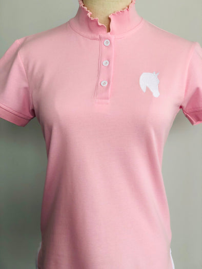 Ladies - Polo Pink Frilly