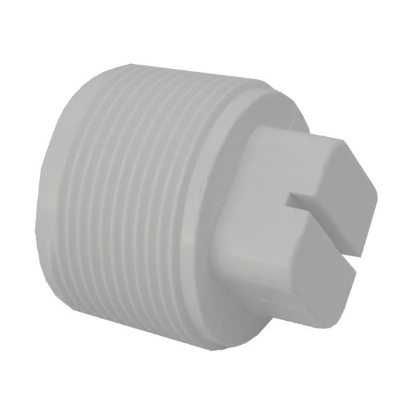 1.5in Threaded Plug White