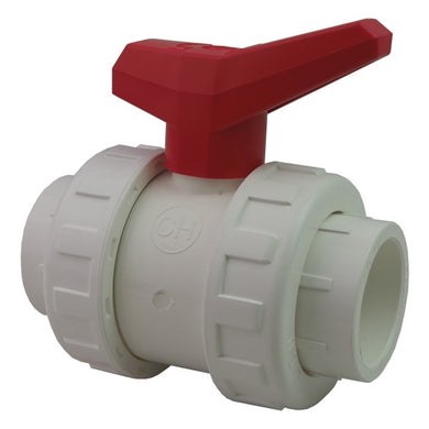 1.5in Double Union Ball Valve White
