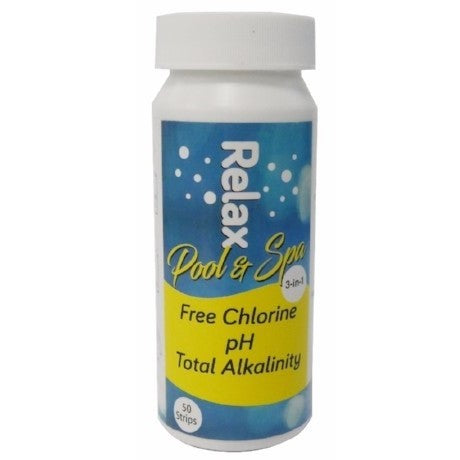 Relax Chlorine 3 Way Test Strip X 50