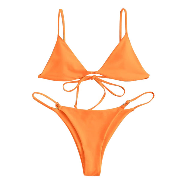 Neon Orange Bora Bikini Bottoms