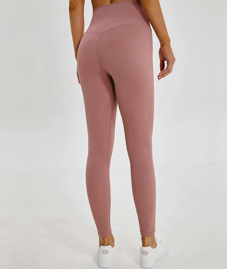 Menorca 7/8 High Waisted leggings Taupe Pink