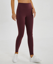 Menorca 7/8 High Waisted leggings Bordeaux Red
