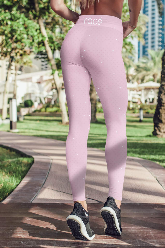 racé CURIE PINK leggings high waisted - Pink / XS - - racé athleisure