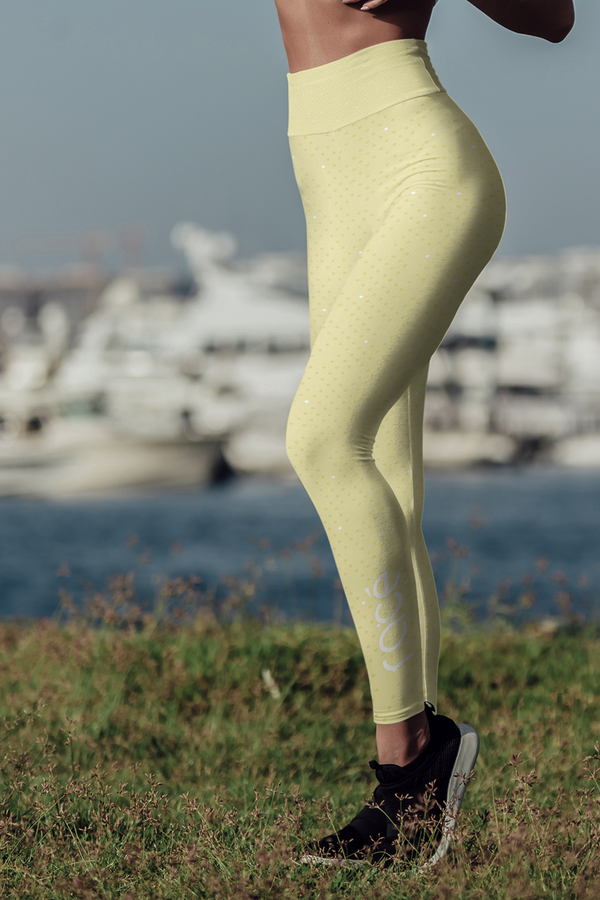 racé CURIE LEMON leggings high waisted - Yellow / XS - - racé athleisure