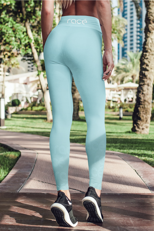 racé LOVELACE SKY leggings high waisted - Blue / XS - - racé athleisure