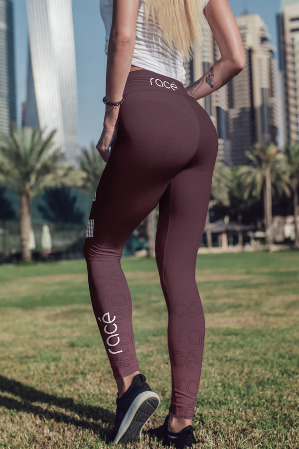 racé LOVELACE RUBY leggings high waisted - Brown / XS - - racé athleisure