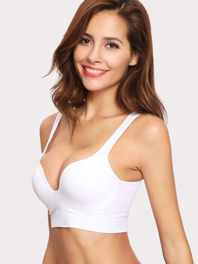 Plain Sports Bra - - Sport Bra - racé athleisure