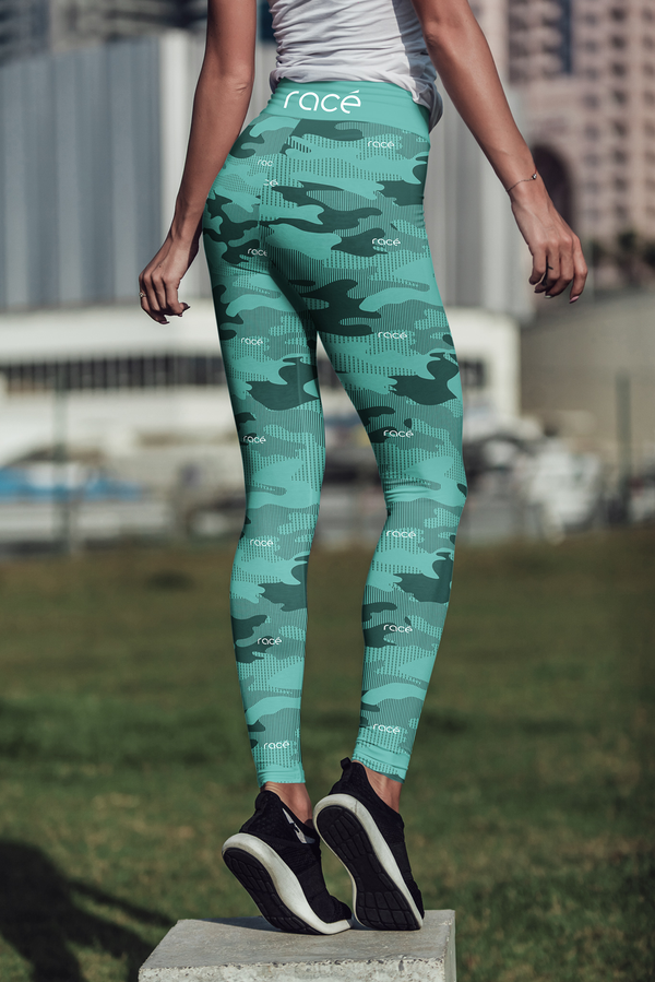 racé ATKINS CYAN leggings high waisted - Green / XS - - racé athleisure