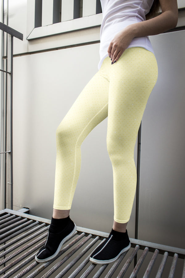racé CURIE LEMON low waist legging - Yellow / XS - - racé athleisure