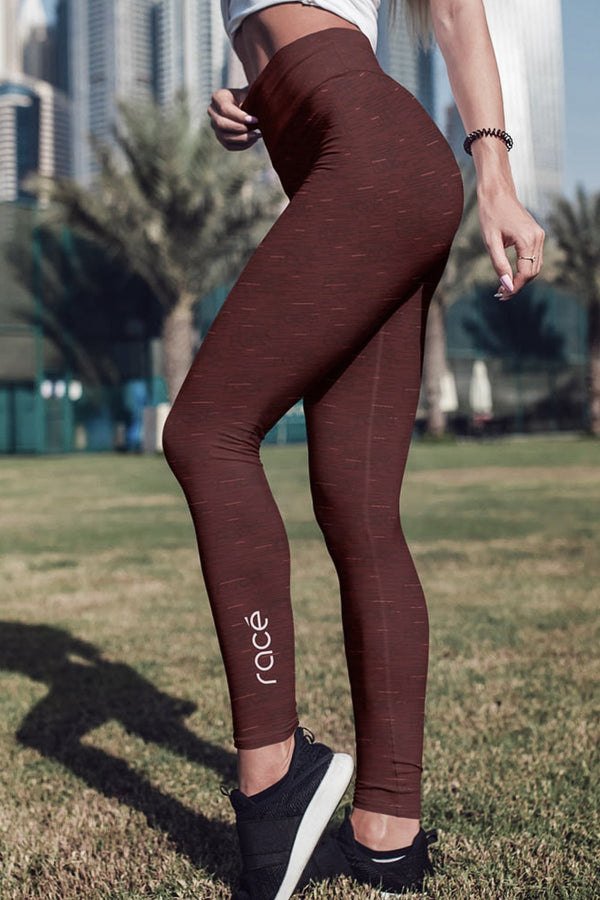 racé PARKS RUBY leggings high waisted - Brown / XS - - racé athleisure