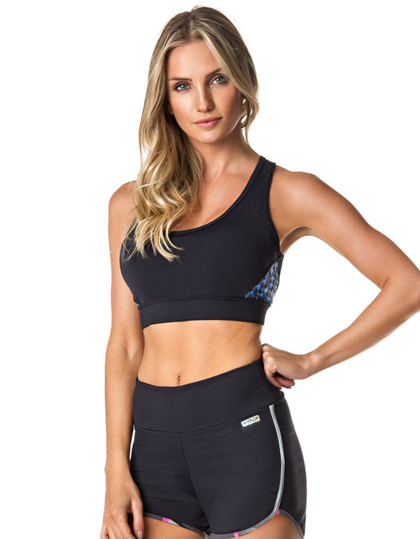 SPORTS BRA 181 WORKOUT BLACK - - Sport Bra - racé athleisure