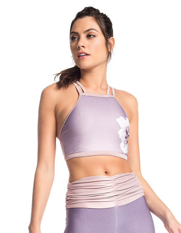 LILAC SUBLIMATED STREET SPORTS BRA - - Sport Bra - racé athleisure