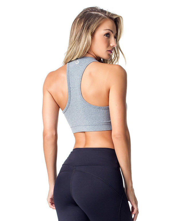 SPORTS BRA 61 SEDUCTION GREY - - Sport Bra - racé athleisure