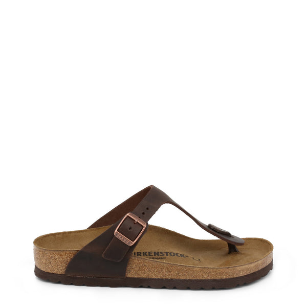 Birkenstock - GIZEH_OILED-LEATHER - brown / EU 36 - Shoes Flip Flops - racé athleisure