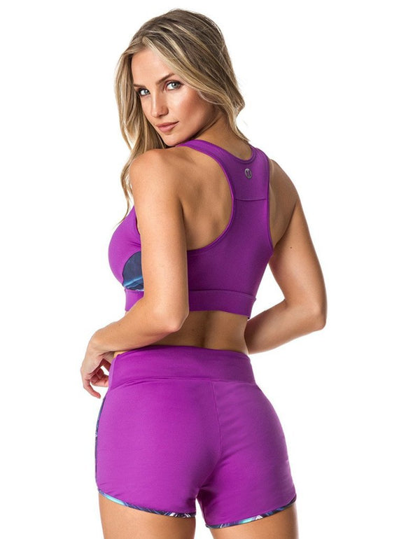 SPORTS BRA 181 WORKOUT PURPLE - - Sport Bra - racé athleisure