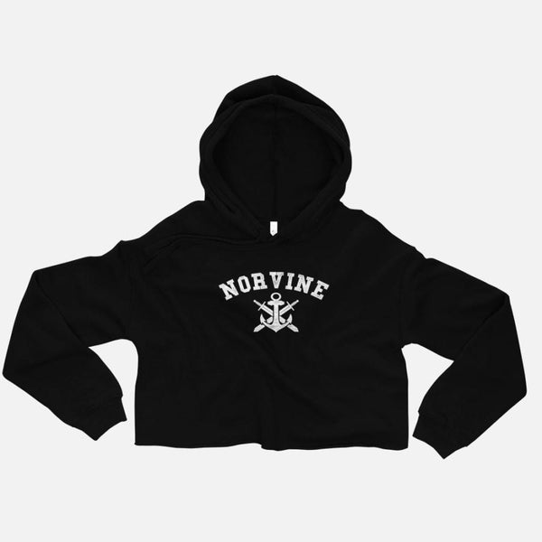 Norvine Women's Anchor Crop Hoodie - - Women's Clothing - racé athleisure