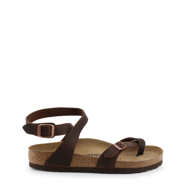 Birkenstock - YARA_OILED-LEATHER - brown / EU 39 - Shoes Flip Flops - racé athleisure
