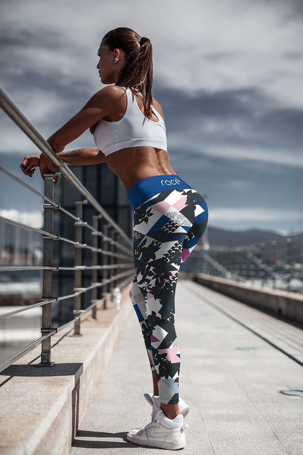 racé Franklin Pink-Black leggings high waisted - Pink / XS - - racé athleisure