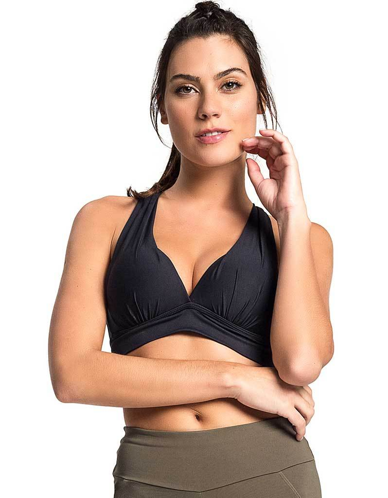 SPORTS BRA 11 CROSSED BLACK - - Sport Bra - racé athleisure