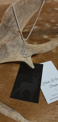 Twin Antler Cast Necklace