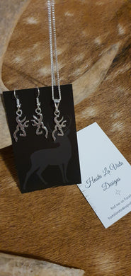 Deer Necklace and Earring Set