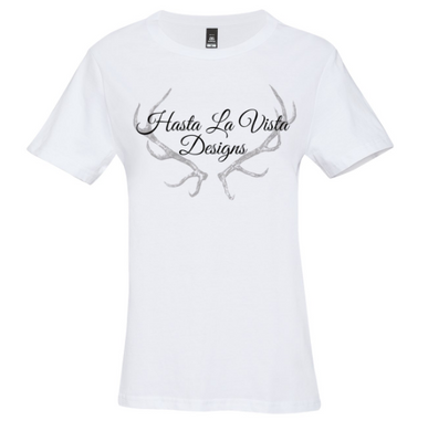 Hasta La Vista Design Logo T-Shirt (front design only)