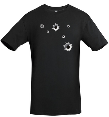 Bullet Hole T-shirt (front & back design)