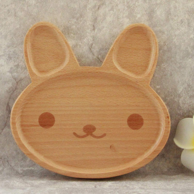 Assiette bois naturel animaux - Sweety kids