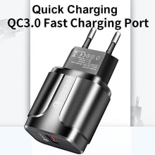 Load image into Gallery viewer, ROCK Quick Charge 3.0 Fast Usb Charger QC3.0 Wall Mobile Phone Charger for iPhone X Xiaomi Mi 9 Tablet iPad EU QC Fast Charging