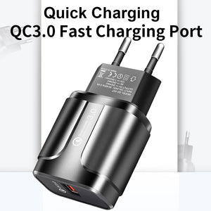 ROCK Quick Charge 3.0 Fast Usb Charger QC3.0 Wall Mobile Phone Charger for iPhone X Xiaomi Mi 9 Tablet iPad EU QC Fast Charging