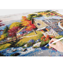 Load image into Gallery viewer, Huacan Diamond Embroidery Landscape Handmade Diamond Painting Village Needlework Mosaic Cross Stitch Home Decor