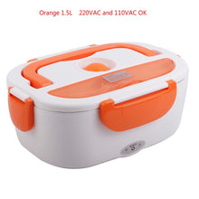 Load image into Gallery viewer, New 40W 1.5L Electric Heating Lunch Box Portable PTC Heated stainless steel bile splitter Bento Warmer Food Container 110/220VAC