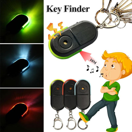 Anti-Lost Alarm Key Finder Keychain WhistleLocator  Sound LED Light Bluetooth Anti-Drop Device