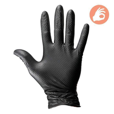 NITRILE Gloves 6mil w/D-Grip