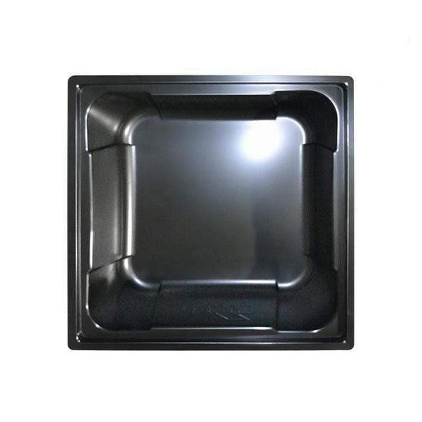 DL Wholesale Square Black Reservoirs 100 Gal. Black X-Trays Square Reservoir