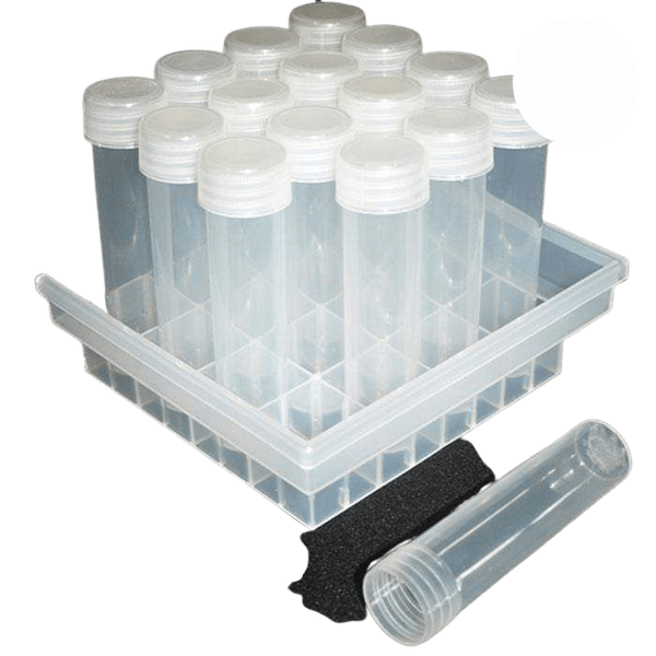 DL Wholesale Tissue Culture 25mm Screw Top Tubes (16 pcs)
