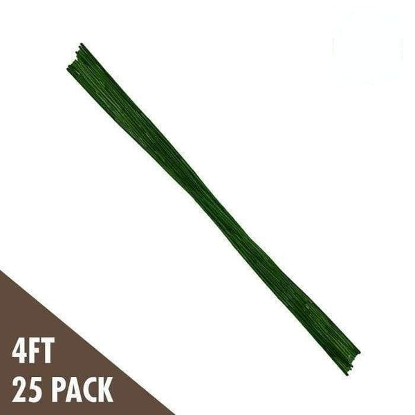 DL Wholesale Bamboo 4' Green Bamboo Stakes (25-pack)