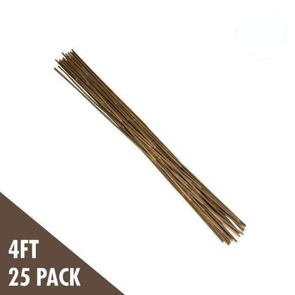 DL Wholesale Bamboo 4'  Natural Bamboo Stakes  (25-pack)