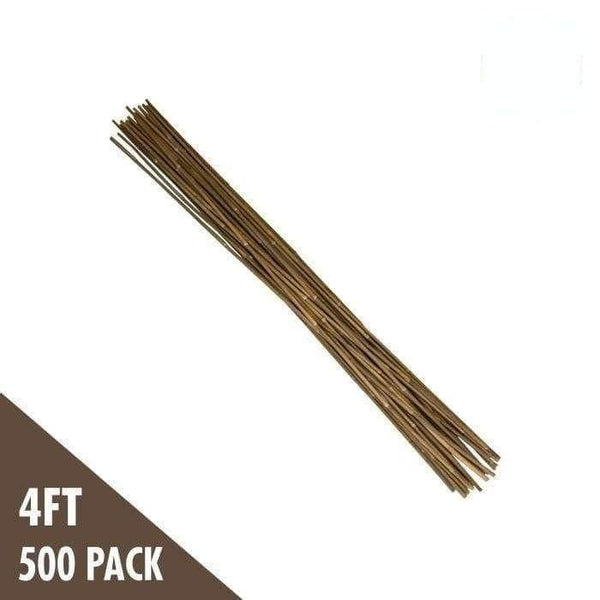 DL Wholesale Bamboo 4' Natural Bamboo Stakes Bulk (500/bale)